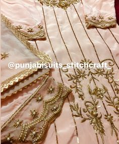 Embroidery Suits Punjabi, Hand Embroidery Dress, Embroidery Suits Design, Embroidery Fashion, Punjabi Suits Designer Boutique, Indian Designer Suits, Boutique Suits, Celebrity Wedding Dresses, Pakistani Wedding Outfits