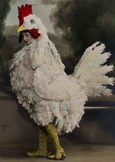 Chicken costume, 1912. Weird.