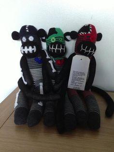 Zomboli sock monkeys Find my sock creations at Facebook.com bobbinsandboo b4219d3af4fd