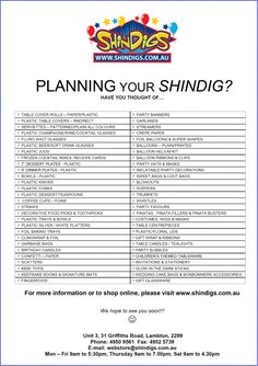 High School Graduation Party Checklist | Birthday Party Planning Checklist Printable