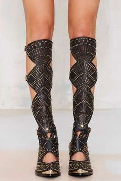 Jeffrey Campbell Harwick Leather Knee-High Boot | Shop Shoes at Nasty Gal!