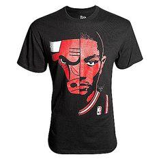 """Chicago Bulls Men's Black Derrick Rose """"Game Face"""" Tee"""