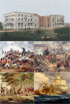 June 1812 – War of 1812 - The U. Congress declares war on Great Britain, Canada, and Ireland. American History Lessons, Canadian History, World History, History Major, Jamaica, Barbados, American Revolutionary War, American War, Honduras