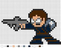 Winter Soldier perler bead pattern