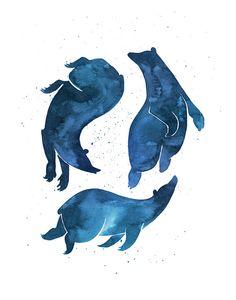 Dream Bears - Print - Bears - Sleep - Magic - Star Gazing
