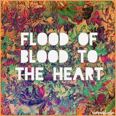 "-- #LyricArt for ""Bloodflood"" by alt-J"