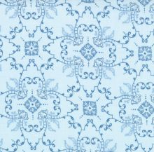Windsor Lane Blue Star Damask by Bunny Hill for Moda - Wrapped in Fabric