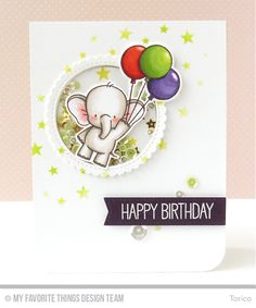 Handmade card from Torico featuring Stitched Mini Scallop Circle STAX