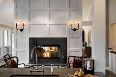 Slate fireplace surround - Crisp Architects - traditional - living room - new york - Crisp Architects