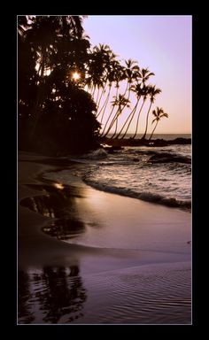 Sunset at Kent beach - Freetown, Sierra Leone, Western Africa