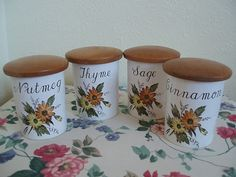 Lovely group of vintage storage jars