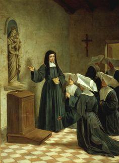 Santa Luísa de Marillac com as Filhas da Caridade de São Vicente de Paulo.