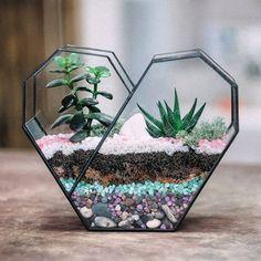 Bonsai Irregular Succulent Glass Geometric Terrarium Planter Flower Pot Miniature Miero Landscape fairy garden miniatures