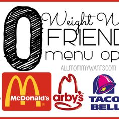 50 Weight Watchers Friendly Fast Food Menu Options - All Under 8 Points