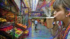 PCペイントで絵を描きました! Art picture by Seizi.N:   ショッピングモールでホットなコーヒーを飲む、日常の何気ない風景をお絵描きしてみました。  Luz Casal - Es por tí http://youtu.be/vmNXO9WuFfs