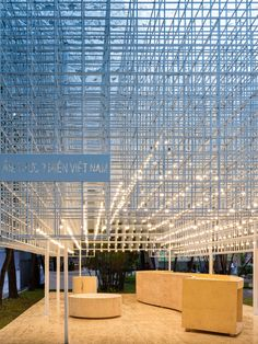 A space which is conceptualized by MIA Design Studio, bases on Vietnamese traditional folk house to replicate its proportions and dimensions, is transparent ...
