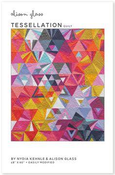 Modern Quilting Designs, Modern Quilt Patterns, Sewing Patterns, Tessellation Patterns, Foundation Paper Piecing, Modern Fabric, Quilt Blocks, Fiber Art, Art Projects