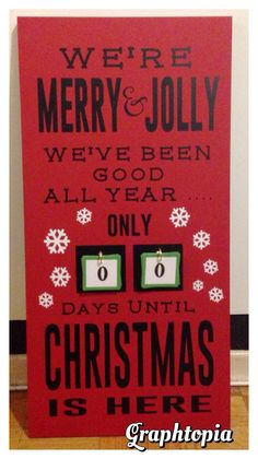 Christmas Countdown Wood Block! -$60 www.facebook.com/graphtopiadesigns  Can be totally customized!