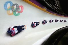 Lizzy Yarnold of Great Britain competes in her final run during the Women's Skeleton on Day 7 of the Sochi 2014 Winter Olympics at Sliding Center Sanki on February 2014 in Sochi, Russia. Get premium, high resolution news photos at Getty Images Skeleton Bob, Women Skeleton, Bobsleigh, Luge, Team Gb, Olympic Sports, Winter Olympics, Extreme Sports, Lead Sled