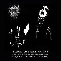 CRMC BLACK (METAL) FRIDAY DISCOUNT Further reductions on many items at www.crmc-clothing.co.uk | WE SHIP WORLDWIDE  USE DISCOUNT CODE - BLACKFRIDAY - FOR 25% OFF YOUR FULL ORDER #blackfriday #blackfriday2015 #blackfridaysale #blackfridaydeals #blackfridayshopping #discounts #sale #blackmetal #discount #darkthrone #transilvanianhunger #alternativegirl #alternativeboy #alternativeteen #blackwear #fashionstatement #altfashion #black #loveblack #fashion #corpsepaint #fuck