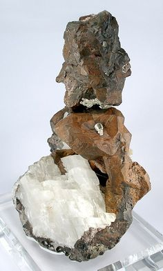 Copper with Calcite from Michigan