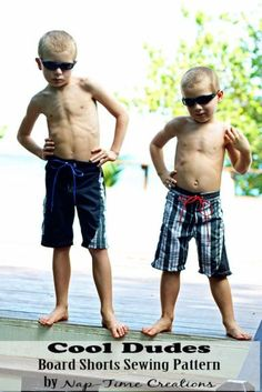 board shorts sewing pattern size 2-10 boys from Nap-Time Creations