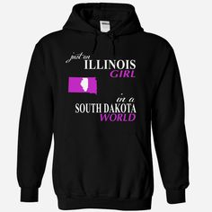ILLINOIS GIRL IN a #SOUTH DAKOTA WORLD., Order HERE ==> https://www.sunfrog.com/Names/ILLINOIS-GIRL-IN-a-SOUTH-DAKOTA-WORLD-Black-Hoodie.html?6789, Please tag & share with your friends who would love it , #christmasgifts #renegadelife #jeepsafari  #south dakota hiking, south dakota camping, mount rushmore south dakota  #entertainment #food #drink #gardening #geek #hair #beauty #health #fitness #history
