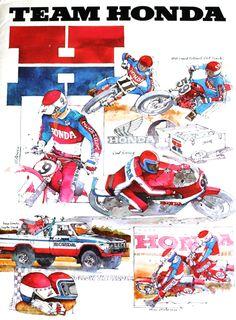 team honda illustration