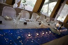 Blue Themed wedding table