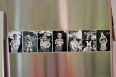 Tutorial - Picture refrigerator magnets (Kids hold letters, take pictures of them, laminate the pictures, place the pictures on magnets for the fridge, spell...grandma, nana, whatever your children call their grandmother)