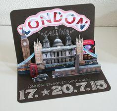 Wir haben unserem Sohn zur Konfirmation einen Besuch in London geschenkt. Dafür habe ich eine Popup-Karte gebastelt, die ihre Wirkung nicht ...