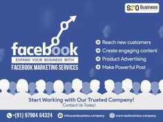 Grow your business with our professional Facebook Marketing Services. We will enhance your online exposure! Call us 9790464324 #seobusinesscompany #socialmediaagency #SEOServicesAgency #displayadvertising #seoservicecompany Facebook Marketing, Social Media Marketing, Seo Services Company, Display Advertising, Growing Your Business, Content