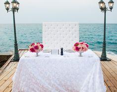 Glam Jamaica  Destination Wedding Sweetheart  table by Weddings Romantique
