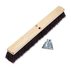 "3 Pack Floor Brush Head, 3 1/4"" Maroon Stiff Polypropylene, 24"" by BOARDWALK (Catalog Category: Office Maintenance, Janitorial & Lunchroom / Cleaning Supplies) by Boardwalk. $75.78. 3 Pack Floor Brush Head, 3 1/4"" Maroon Stiff Polypropylene, 24"" by BOARDWALKHardwood block with two threaded handle holes. Handles sold separately. Maroon bristles for coarse/heavy sweep on rough surfaces. Bristle Material: Stiff Polypropylene; Brush Length: 24""; Bristle Length: 3 1/4""."