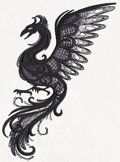 Dark Creatures - Phoenix | Urban Threads: Unique and Awesome Embroidery Designs
