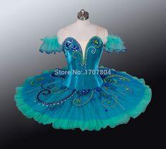 Verde tutú de Ballet profesional, tutú clásico del Ballet para las muchachas, traje de Ballet porque la competencia, bailarina desgaste de la danza del BT871(China (Mainland))