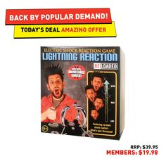 Day 7 - May. Getting zapped is cool. Avoid getting zapped with today's Lightning Reaction Game.