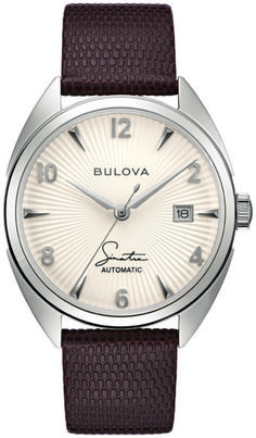 Bulova Unveils Frank Sinatra Collection: Four New Designs On 10 New Watches | WatchTime - USA's No.1 Watch Magazine Seiko Presage, Moon Watch, Bulova Watches, Omega Constellation, Black Accents, New Music, Watches For Men, Leather, Collection
