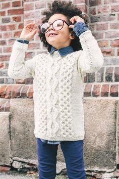 1509: Design 2 Flettegenser #strikk #knit #ull #wool #SandnesGarn