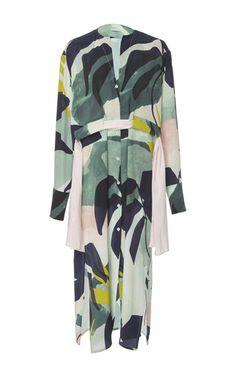 Perret Schaad Printed Silk Midi Dress