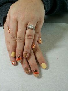 Fall thanksgiving nails by: Karen Ayers