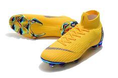 Nike Mercurial Superfly VI Elite FG Botas de Futbol - Amarillo Azul 40f6b02e9aba6