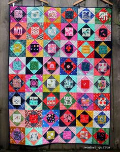 This week I managed to finish up my Cotton and Steel Economy block quilt…and I am very pleased with myself. You see I signed this week for the 2nd Quarter of the 2016 Finish Along and I am determined