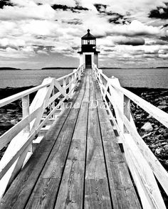 Nautical Photograph Lighthouse Marshall Point by MDanielsonPhoto, $24.00