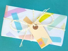 DIY: Washi Tape Wrapping Paper
