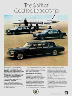 Cadillac Limousines.