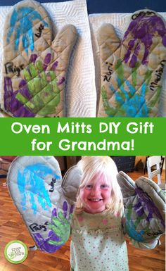This adorable project is a wonderful gift idea for Grandma!  http://www.greenkidcrafts.com/helping-hands-oven-mitts-2/