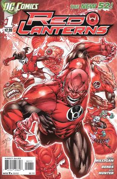 With Blood and Rage! _ Written By Peter Milligan , Art Ed Benes, Cover Art Ed Benes ..Atrocitus and his Red Lantern Corps return battling against injustice in the most bloody ways imaginable! , Atroci