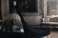 Karen Elson & Ava Smith by Craig McDean for Vogue Italia September 2013 | The Fashionography