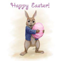 Rabbit Peter wishes you Happy Easter by Kennienoname.deviantart.com on @DeviantArt